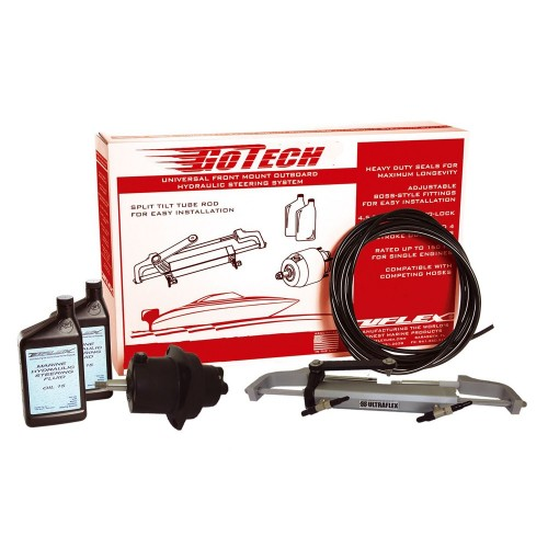 UFlex GoTech 1-0 Universal Front Mount Outboard Hydraulic Steering System