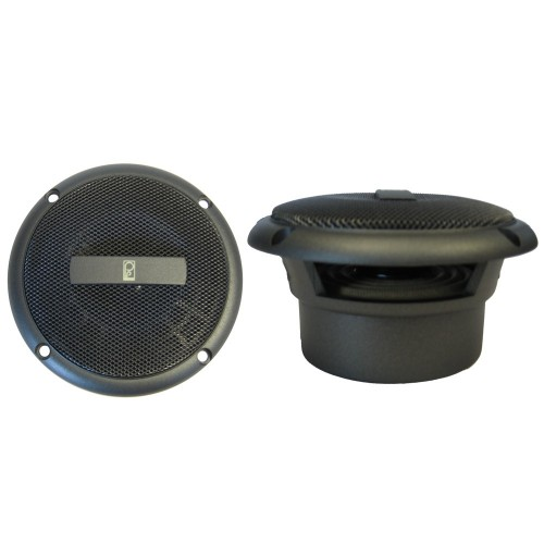 Poly-Planar 3- Round Flush-Mount Compnent Speakers - -Pair- Gray