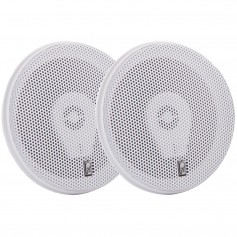 Poly-Planar 6- Titanium Series 3-Way Marine Speakers - -Pair-White