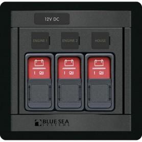 Blue Sea 1148 Remote Control Panel w--3- 2145 Remote Control Contura Switch