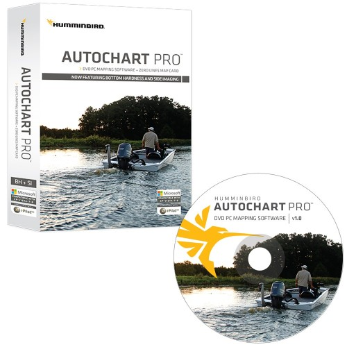Humminbird AutoChart PRO DVD PC Mapping Software w-Zero Lines Map Card