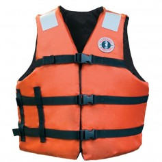Mustang Adult Universal Fit Industrial Flotation Vest - 30--52- Vest - Orange