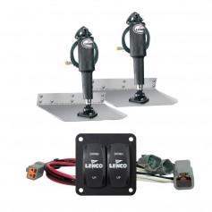 Lenco 9- x 12- Standard Trim Tab Kit w-Double Rocker Switch