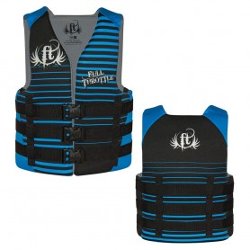Full Throttle Rapid-Dry Life Vest - Teen 90lbs - Over - Black-Blue
