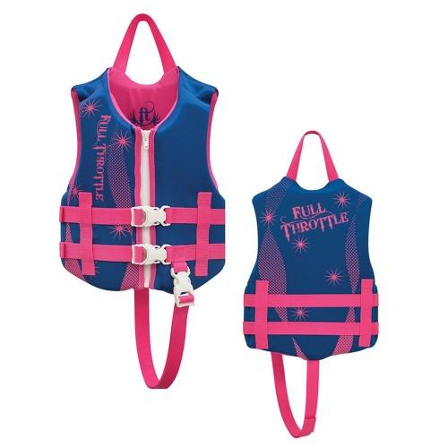 Full Throttle Rapid-Dry Life Vest - Child 30-50lbs - Blue-Pink