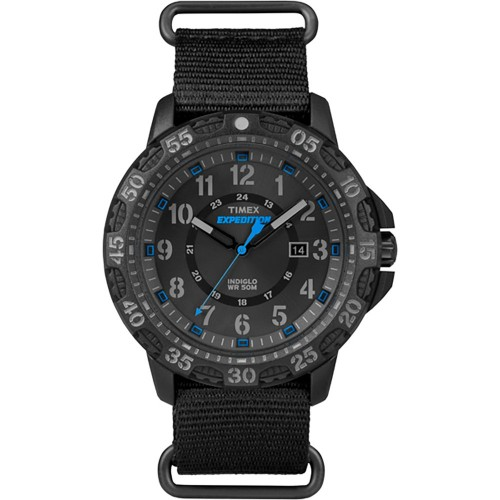 Timex Expedition Rugged Resin Slip-Thru Watch - Black-Black