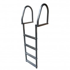 Dock Edge Aluminum 4-Step Eco Flip-Up Dock Ladder - Weld Free