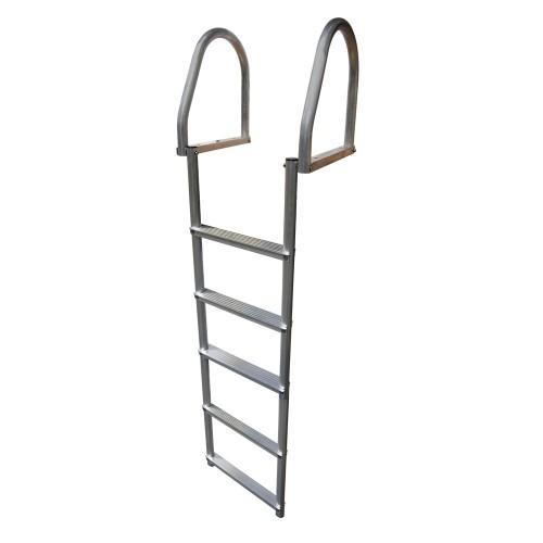Dock Edge Aluminum 5-Step Eco Flip-Up Dock Ladder - Weld Free