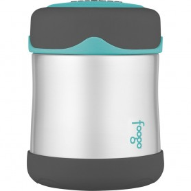 Thermos Foogo Stainless Steel- Vacuum Insulated Food Jar - Teal-Smoke - 10 oz-