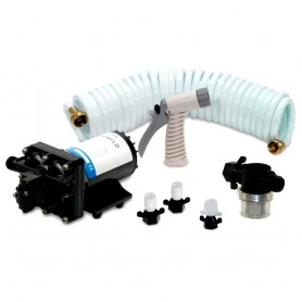 Shurflo by Pentair BLASTERII Washdown Kit - 12VDC- 3-5GPM w-25 Hose- Nozzle- Strainer Fittings