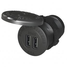 Blue Sea 1045 12-24V Dual USB Charger - 1-1-8- Socket Mount
