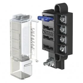 Blue Sea 5045 ST Blade Compact Fuse Blocks - 4 Circuits w-Cover