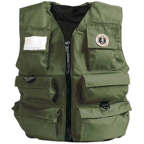 Mustang Inflatable Fisherman-s Vest - Manual - XL - Olive