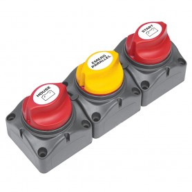 BEP Battery Distribution Cluster f-Single Engine w-Two Dedicated Battery Banks - Vertical Mount