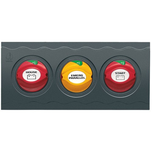 BEP Contour Connect 3 Battery Switch Panel w-3 Disconnects