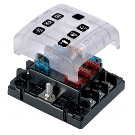 BEP ATC Six Way Fuse Holder - Screw Terminals w-Cover - Link