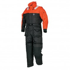 Mustang Deluxe Anti-Exposure Coverall - Worksuit - LG - Orange-Black