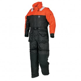 Mustang Deluxe Anti-Exposure Coverall - Worksuit - MED - Orange-Black