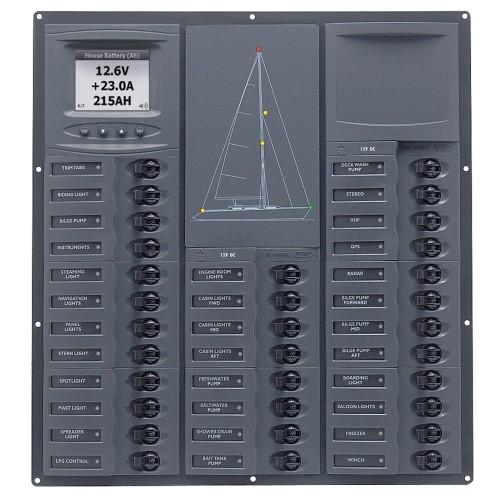 BEP Cruiser Series DC Circuit Breaker Panel w-Digital Meters 32SP DC12V
