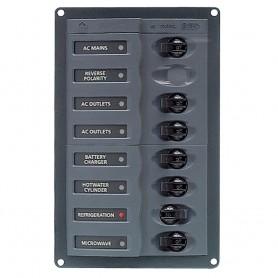BEP AC Circuit Breaker Panel w-o Meters- 6 Way w-Double Pole Mains