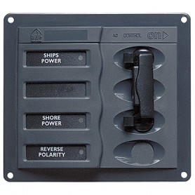 BEP AC Circuit Breaker Panel without Meters- 2DP AC230V Stainless Steel