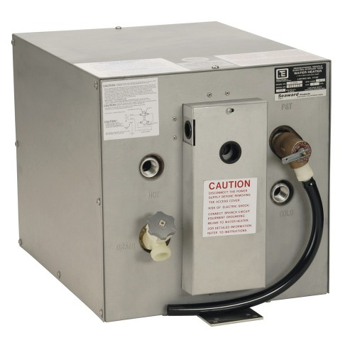 Whale Seaward 6 Gallon Hot Water Heater w-Rear Heat Exchanger - Galvanized Steel - 120V - 1500W