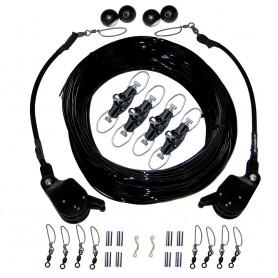 Rupp Double Rigging Kit w-Lok-Ups - Nok-Outs - 260- Black Mono