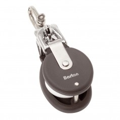 Barton Marine Snatch Block W-Stainless Steel D Shackle - 20mm Sheave Width