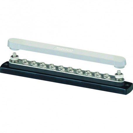 Blue Sea 2312- 150 Ampere Common Busbar 20 x 8-32 Screw Terminal with Cover