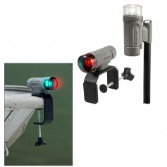 Attwood PaddleSport Portable Navigation Light Kit - C-Clamp- Screw Down or Adhesive Pad - Gray