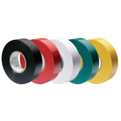 Ancor Premium Assorted Electrical Tape - 1-2- x 20- - Black - Red - White - Green - Yellow