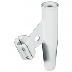 Lee-s Clamp-On Rod Holder - White Aluminum - Vertical Mount - Fits 2-375- O-D Pipe