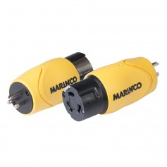 Marinco Straight Adapter - 15A Male Straight Blade to 50A 125-250V Female Locking