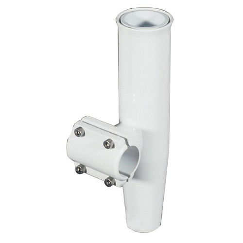 Lee-s Clamp-On Rod Holder - White Aluminum - Horizontal Mount - Fits 1-660- O-D- Pipe