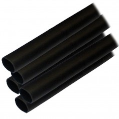 Ancor Adhesive Lined Heat Shrink Tubing -ALT- - 1-2- x 12- - 5-Pack - Black