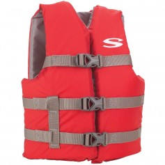 Stearns Classic Youth Life Jacket - 50-90lbs - Red-Grey