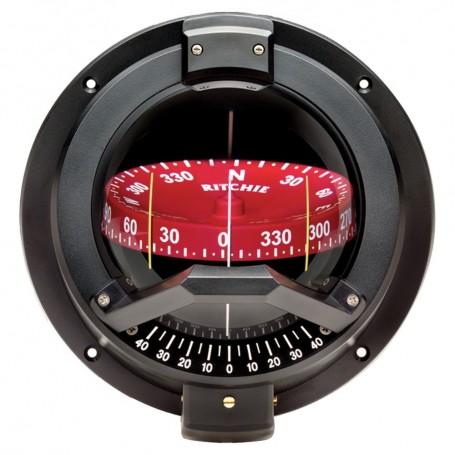 Ritchie BN-202 Navigator Compass - Bulkhead Mount - Black