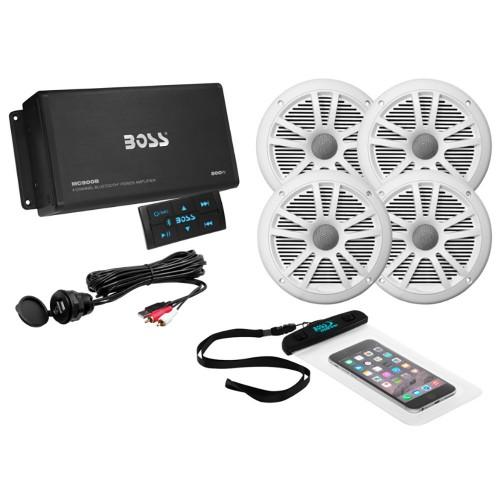 Boss Audio ASK904B-64 4-Channel Bluetooth Amplifier w-4 Speakers