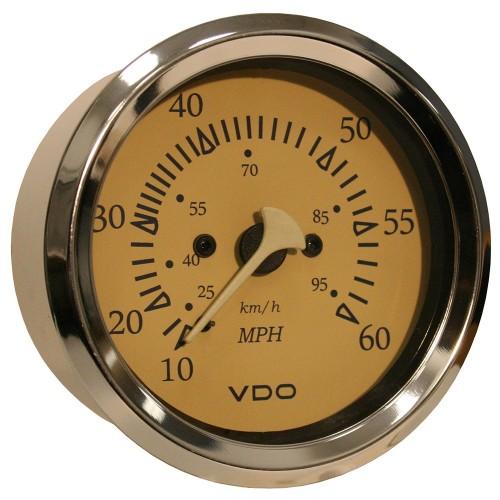 VDO Allentare Teak 60MPH 3-3-8- -85mm- Pitot Speedometer