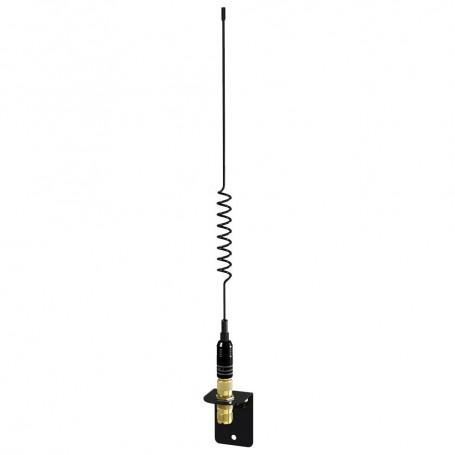 Shakespeare VHF 15in 5216 SS Black Whip Antenna - Bracket Included