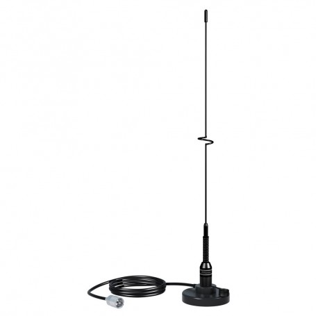 Shakespeare VHF 19- 5218 Black SS Whip Antenna - Magnetic Mount