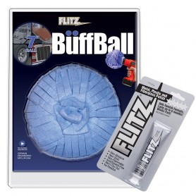 Flitz Buff Ball - Extra Large 7- - Blue w-1-76oz Tube Flitz Polish