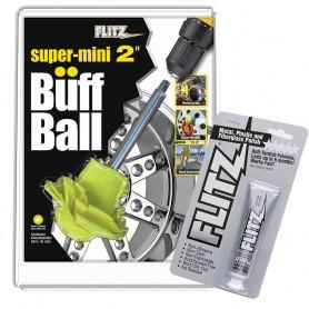 Flitz Buff Ball - Super Mini 2- - White w-1-76oz Tube Flitz Polish