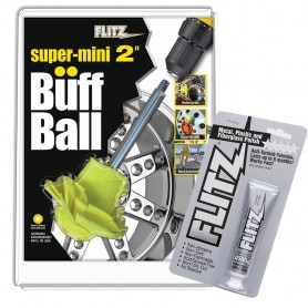 Flitz Buff Ball - Super Mini 2- - Yellow w-1-76oz Tube Flitz Polish