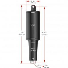 Lenco 101XD Extreme Duty Actuator - 12V - 2-1-4- Stroke - 5-16- Hardware