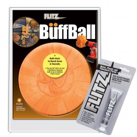 Flitz Buff Ball - Large 5- - Orange w-1-76oz Tube Flitz Polish