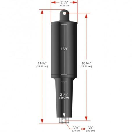 Lenco 101XD Extreme Duty Actuator - 12V - 2 1-4- Stroke - 3-8- Hardware