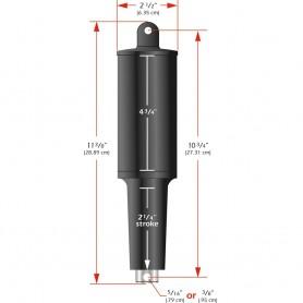 Lenco 101XD Extreme Duty Actuator - 24v - 2 1-4- Stroke - 3-8- Hardware