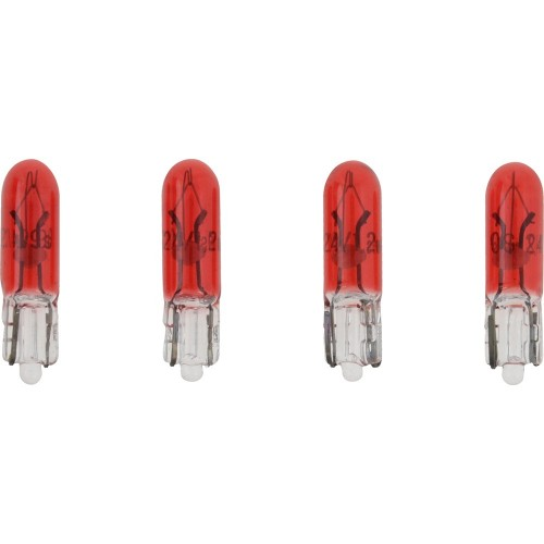 VDO Type D Wedge Based Peanut Bulb - Red