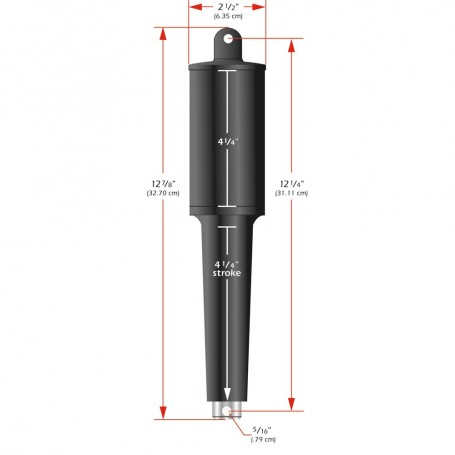 Lenco 102XD Extreme Duty Actuator - 12V - 4-1-4- Stroke